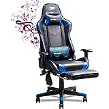 SOUTHERN WOLF Sedia Gaming, Sedia da Gaming con Massaggio, Poltrona Ergonomica Sedie da Gaming Girevole con Bluetooth, Poltro