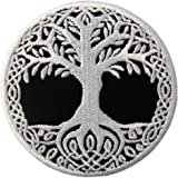 Toppa ricamata da applicare con ferro da stiro o cucitura, tema: Yggdrasil Albero della vita in norvegese