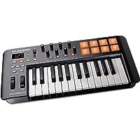 M-Audio Oxygen 25 IV - Clavier Maître MIDI 25 Touches avec 8 Pads Sensibles à La Vélocité et Boutons de Contrôles Assignables avec VIP 3 et Pack de Logiciels Inclus Noir