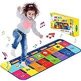 Let's Arezooo Tapis de Jeux Enfant avec 8 Sons d'animaux, Tapis de Musique Antidérapant Tapis de Danse Drôle de pour Bébés (1