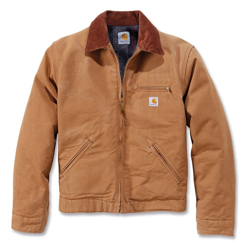 Carhartt Men's Duck Detroit Workwear Jacket Carhartt Brown Small ...