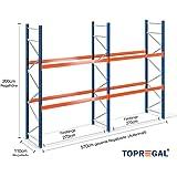 Palettenregal Schwerlastregal 5,7m breit, 2m hoch, 110cm tief, 2 Ebenen für 12 Europaletten