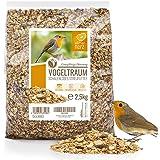 Rêve d'Oiseau - sans Coquille - Graines pour Oiseaux Sauvages sans Blé I Nourriture pour Oiseaux de Qualité Supérieure I Grai