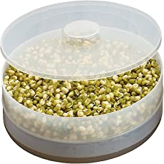Deep Wish Box Hygienic Sprout Maker with 2 Compartments for Multi Purpose Use, 6-Inch Length (6.89E+11, Transparent)