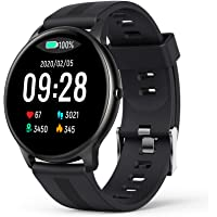 Smartwatch, AGPTEK 1.3 inch wristwatch with heart rate, heart rate monitor, step counter, ...