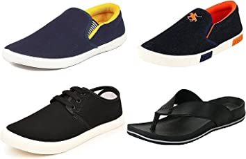 Maddy Perfect Combo of Sneaker, Loafer, Slipper & Sandal for Men Pack of 4 in Various Sizes