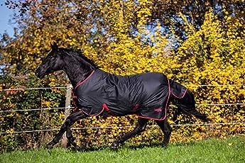 Covalliero Kerbl Outdoordecke RugBe Zero.1 Schwarz/Rot Pferdedecke Wasserabweisend