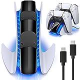 BEBONCOOL Chargeur Manette PS5, Chargeur PS5 avec Puce Protection de Charge Rapide,Support Manette PS5 avec Indicateur LED po