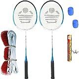 Cosco CB- 85 Badminton Kit (2 Rackets, 2 Grip,1 Fieldking Shuttlecock and 1 Badminton Net)