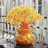 VOSAREA 19 Centimetri di Cristallo Naturale Albero Fortunato Soldi Ornamenti Albero Stile Bonsai ricchezza Fortuna Feng Shui