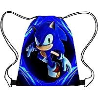 smileh Sonic The Hedgehog Borse Sacca con Coulisse Sonic Zaino Sonic Sacchetto Drawstring Bag Sacche del per Bambini e…