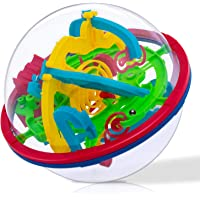 iNeego 3D Labyrinthe Boule 12cm 3D Intellect Balle avec 100 BarrièRes 3D Labyrinthe Balle pour Enfants 3D Puzzle Jouet…