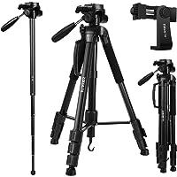 Speedsporting 177 cm Leichtes Stativ Kamera Stativ mit Handyhalterung und Einbeinstativ, Aluminium Stativ Fotostativ mit…