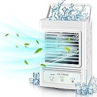 Mini Klimaanlage Mobil 4 in 1 Klimageräte Luftkühler Tragbare Verdunstungskühler mit Wasserkühlung und 3…