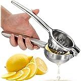 Presse agrumes OVOS Presse citron manuel incassable en acier inoxydable 18/10 (sans bisphénol A), pour un maximum de jus, pas