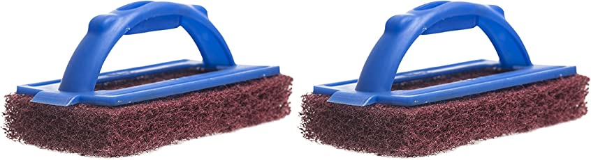Gala 2-Piece Iron Bull Scrub Pad Set (Maroon and Blue)