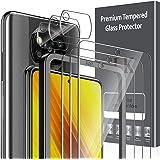 LK 6 Pack Protector de Pantalla Compatible con Xiaomi Poco X3 NFC/Poco X3 Pro,Contiene 3 Pack Cristal Vidrio Templado y 3 Pac