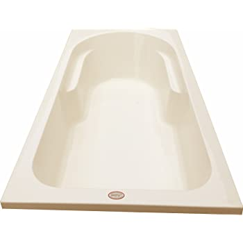 MADONNA Alexander Acrylic Fixed 6 feet Rectangular Bathtub for Adults - Ivory