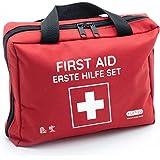Trousse de premiers secours avec compresses froides instantanées, couverture de secours et assortiment de plâtres (103 pièces