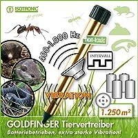 ISOTRONIC Maulwurfabwehr Vibrasonic NEU mit Vibrationsmotor batteriebetrieben Wühlmausfrei Wühlmausschreck Wühlmausvertreiber Wühltierfrei Maulwurfschreck Schlangenabwehr
