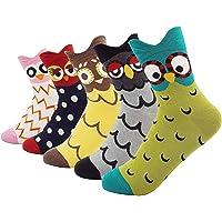 TUKNON Calzini da Donna, Caldi calzini da Donna, Calze di Lana, Calzini da Ragazza, calzini in lana in cotone con design…