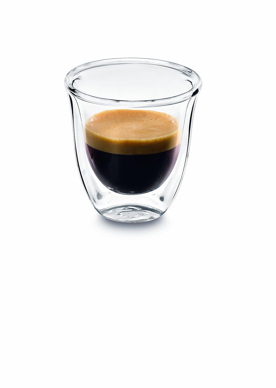 Glass espresso coffee cups uk - Delonghi 5513214591 Espresso Thermo Glasses Pack Of 2 Amazon Co Uk Kitchen Home