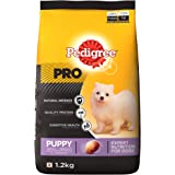 Pedigree PRO Expert Nutrition Small Breed Puppy (2-9 Months) Dry Dog Food, 1.2kg Pack
