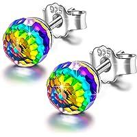 Alex Perry Fantastische Welt 925 Sterling Silber Ohrstecker Ohrringe für Damen, Swarovski Steinen Runden, Mehrfarbenwahl, Geschenke für Sie, Kommt in Geschenkbox, Nickelfrei Bestanden SGS Test