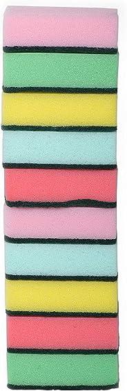 Delcasa 10piece Cleaning Sponge, Multi-Colour, DC1553