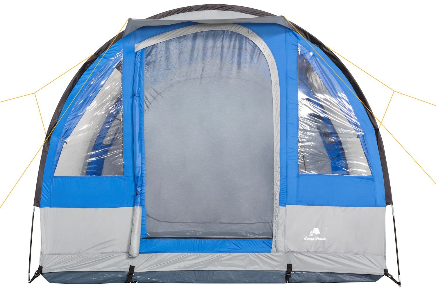 CampFeuer - Tunnel Tent, 4 Person, 410x250x190 cm, blue/grey 4