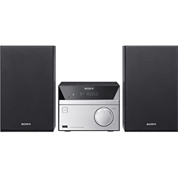 Sony CMT-SBT20 Sistema Micro Hi-Fi con Mega Bass, Potenza totale 12W, Lettore CD, Radio FM, USB, Bluetooth, NFC, Nero