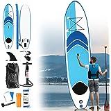 Aufun Tabla Paddle Surf Hinchable 305 x 75 cm / 320 x 76 cm / 330 x 76 cm Universel SUP Mât télescopique: Paddle Board + Sac