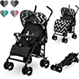 Lionelo Lo-Elia Oslo Elia lätt buggy, liten hopfällbar barnvagn, grå, 7,5 kg