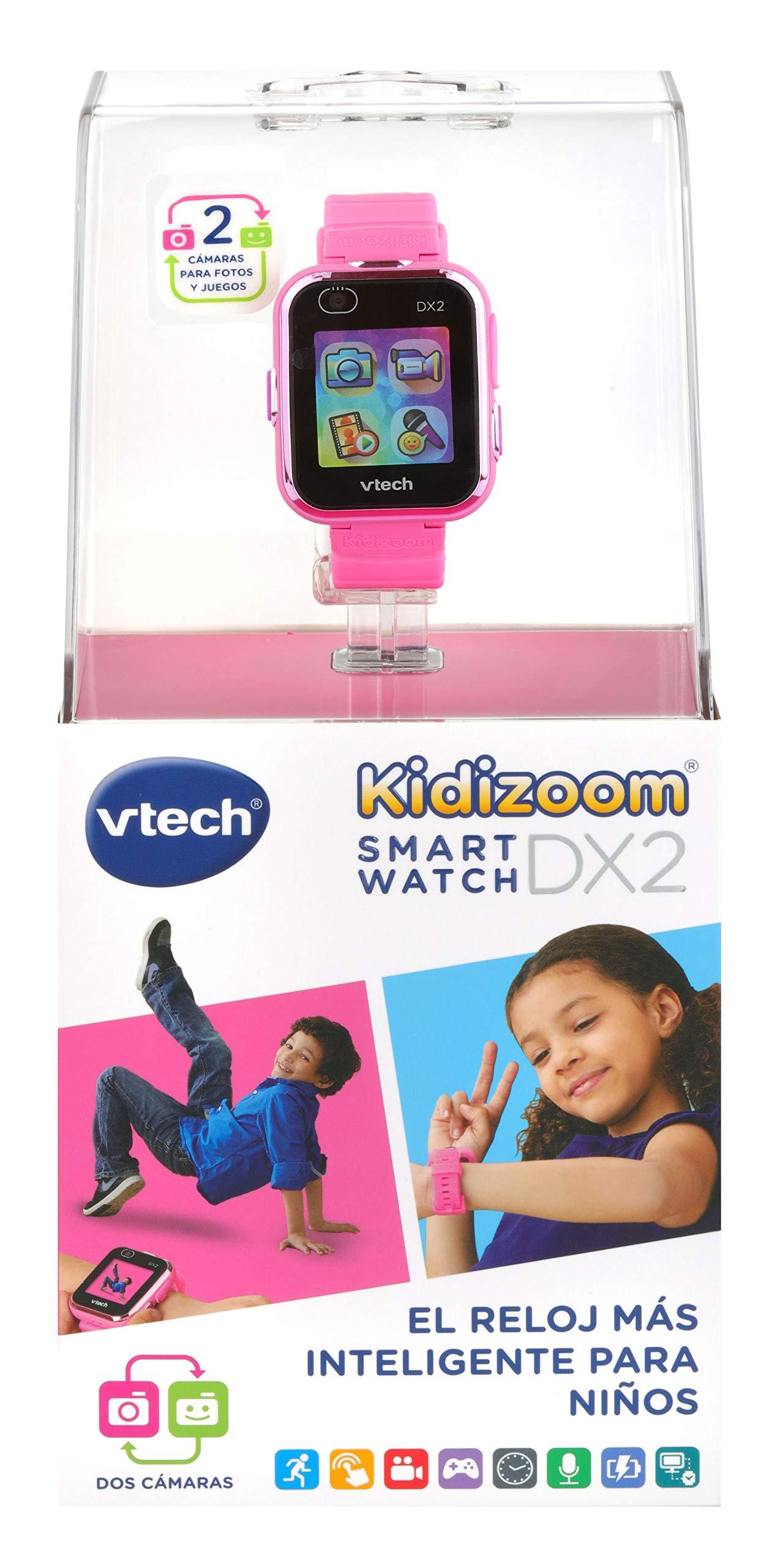 VTech 3480-193822 Kidizoom Smart Watch DX2 - Reloj inteligente para niños con doble cámara, color azul 6