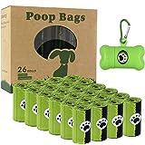 Bolsas para excrementos de perros, 26 rollos (390 bolsas), bolsas para excrementos para perros, biodegradables, con 1 dispens