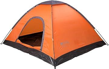 Mountain Warehouse Festival Fun 4-Personen-Zelt - wasserabweisendes Schlafzelt, leichte Montage, EIN Raum, Leichtes Familienzelt, Zeltboden - Für Camping, Sonne, Strand