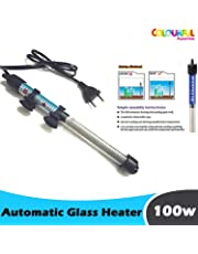 COLOURFUL AQUARIUM - RS Electrical High Glass Fully Automatic Heater with Standby Light Indicator to Aquarium Fish Tank | Auto On/Off (100w)