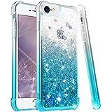 wlooo Hülle für iPhone SE 2020, iPhone 6 6s 7 8 Glitzer Handyhülle, Glitter Flüssig Treibsand Weich Silikon TPU Bumper…