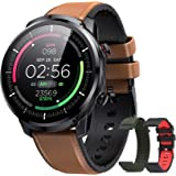 Reloj Inteligente Hombre, Hommie Smartwatch Hombre de Pantalla Táctil Ccompleta Impermeable IP68, Pulsera de Actividad Inteli