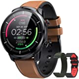 Hommie Smartwatch Uomo, Orologio Smartwatch Uomo IP68, Orologio Fitness di 3 Diversi Cinghie e 9 Sport, Orologio…