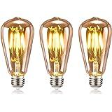 tronisky Ampoule Edison Vintage, Ampoule LED Rétro E27 4W Blanc Chaud Ampoule Edison LED Filament Antique Ampoules Décorative