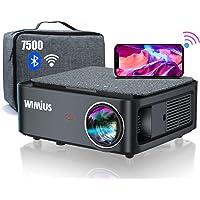 Vidéoprojecteur WiFi Bluetooth Full HD 1080P, 7500 WiMiUS Rétroprojecteur 1080P Supporte 4K Réglage 4D Fonction Zoom…