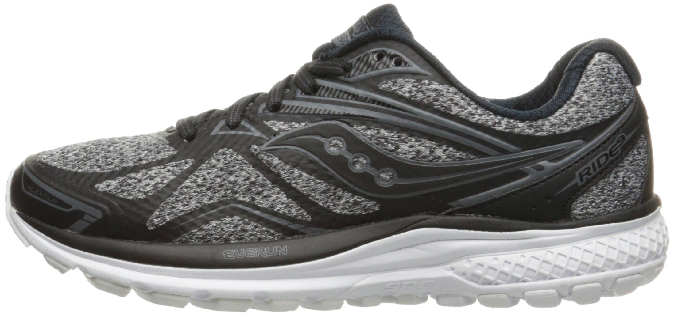 71ghhLkhiNL - Saucony Women's Ride 9 Lr Running Shoe, Grey/Black, 5 M US