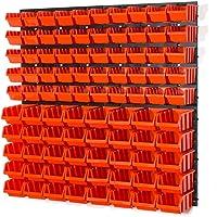 Lot de 50 bacs de rangement taille XS et 40 taille S avec fixation murale style persienne