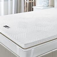 BedStory Surmatelas 90 x 190 à Mémoire de Forme 7,6cm, Surmatelas Bambou Peut Éliminer Les Odeurs et Les Acariens…
