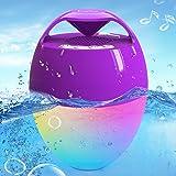 Portatile Altoparlante Bluetooth, Altoparlante Doccia Galleggiante con Luci LED, IP68 Impermeabile Bluetooth 5.0, Chiamata a