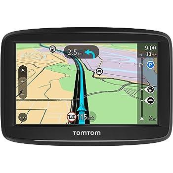 TomTom Start 42 - Navegador para coche, 4,3 pulgadas, mapas de la UE para toda la vida y pantalla resistiva
