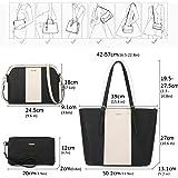 LOVEVOOK Handtasche Damen Gross Handtaschen Set Taschen groß Handtaschen für Frauen Damen-henkeltaschen Shopper Schultertasch