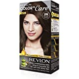Revlon Color N Care Permanent Hair Color Cream, Brown Black 2N |With Olive and coconut Oil