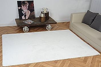 Luxus Hochflor Teppich Prestige Weiß Nach Maß   Versandkostenfrei  Schadstoffgeprüft Pflegeleicht Antistatisch Robust Strapazierfähig  Schmutzabweisend Edel